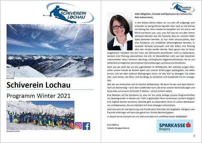 Schiverein Lochau - Winterprogramm 2020-2021